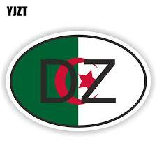 Yjzt 15 7cm 10 4cm Algeria Dz Africa Country Code Car Sticker Decal Windows Decorate 6 0391 Car Stickers Aliexpress