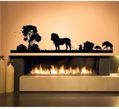 Christmas Fireplace Wall Decal Fake Sticker Design For Vinyl Uk Vamosrayos