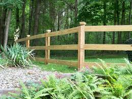 Elegant Post And Rail Modern Fence Wood Fence Installation Garden Layout