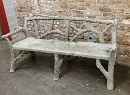 french faux bois garden bench