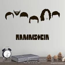 Amazon Com Rammstein Wall Decals Legends Of Music Stickers Decorative Design Ideas For Your Home Or Office Walls Removable Vinyl Murals Ec 1110 Arts Crafts Sewing