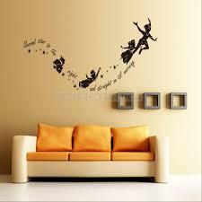 Tinkerbell Star Peter Pan Pvc Wall Stickers Decal Kids Room Nursery Mural For Sale Online Ebay