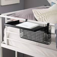 White Walker Edison Universal Metal Bunk Bed Shelf Kids Bedroom Storage Basket 14 Inch Home Kitchen Furniture