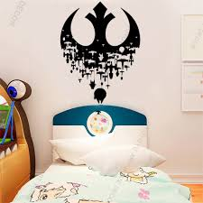 Personalized Wallpaper Murals Star Wars Wall Decal Death Star Wall Decal Jedi Wall Decal For Kids Room Decor Removable Q119 Wall Stickers Aliexpress