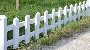 White Plastic Fence Pvc White Picket Fence Breaking Burgh