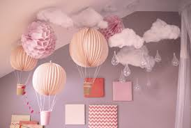 Pink Kids Room With Sky Ornament
