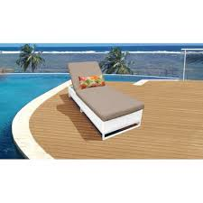 monaco outdoor chaise lounge with