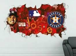 Houston Astros Mlb Wall Decal Vinyl Sticker Decor Baseball Extra Large L311