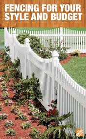 Get Fencing Supplies From The Home Depot To Fit The Needs Of Your Home Whether You Re Looking For Fenci Vinyl Picket Fence Front Yard Garden Gates And Fencing