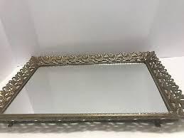 vintage vanity mirror tray rectangular