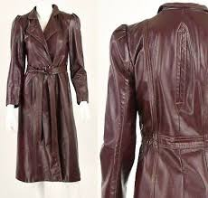 leather duster coat burdy red womens