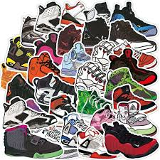Hot Offer 18a7c4 100pcs Retro Basketball Sneaker Tide Shoes Stickers Skateboard Laptop Motorcycle Cool Decal Waterproof Sticker Kids Classic Toys Cicig Co