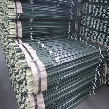 Heavy Duty Metal T Post Green Fence Post Low Carbon Steel Material Hebei Jinshi Industrial Metal Co Ltd