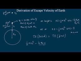 derivation of escape velocity of earth