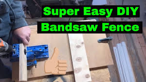 Super Simple And Easy Diy Bandsaw Rip Fence Youtube