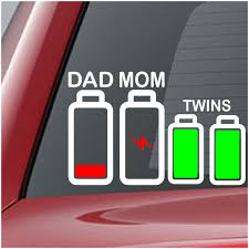 Battery Family Decal Dad Mom Twins Crazy4decals