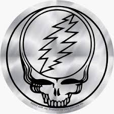 Amazon Com Grateful Dead 4 Shiny Silver Chrome Steal Your Face Sticker Decal Automotive