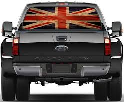 Vintage Uk Flag Rear Window See Through Net Decal Decalz Co