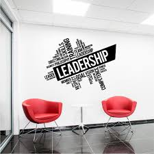 Leadership Teamwork Words Cloud Wall Decal Wall Sticker Usa
