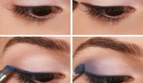 navy blue dresses professional makeup