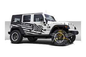 Desert Usa Graphics Vinyl For Jeep Jk Wrangler Decals 4 Door 2007 2018