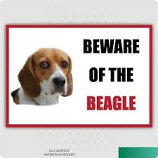 Funny Beware Of The Beagle Dog Vinyl Car Van Decal Sticker Pet Lover Ebay
