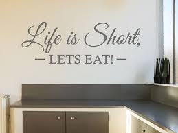 Kitchen Wall Quote Let S Eat Wall Art Sticker Etsy