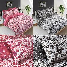 leopard print duvet cover set king size