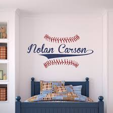 Personalized Name Baseball Wall Decal Sticky Wall Vinyl Llc