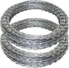 20m Galvanised Barbed Razor Wire Steel Security Fencing Farm Concertina Barb Amazon Co Uk Garden Outdoors