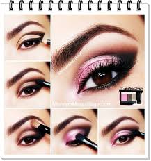 evening eye makeup step by step