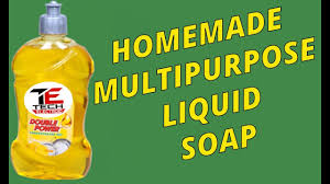 making of liquid soap detergent at home