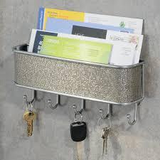 modern wall mounted mail organizer and