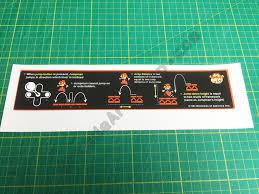 Donkey Kong Instructions Decal Sticker Below Bezel Arcade Art Shop