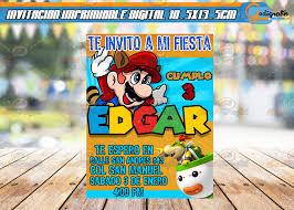 Mario Bros Invitacion Imprimible Para Fiesta De Cumpleanos
