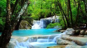 free moving waterfalls
