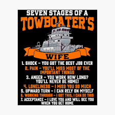 Funny Towboater S Wife Gift Valentines Day Gifts Seven Stages Of A Wife Spouse Poster By Kntranhoang Redbubble