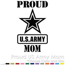 Proud Us Army Mom Military Air Force Parents Custom Vinyl Decal Sticker Ebay