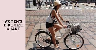 size chart womens bike sizes