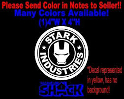 Stark Industries Sticker Vinyl Decal Marvel Iron Man Avengers Car Window Ebay