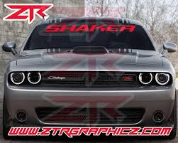 Custom Dodge Challenger Rt Shaker Windshield Decal Ztr Graphicz
