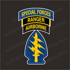 Mini Army Special Forces Airborne Ranger Bumper Sticker Decal