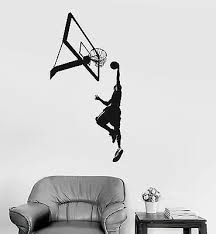Vinyl Wall Decal Basketball Sports Fan Player Boys Room Kids Stickers 022ig Ebay