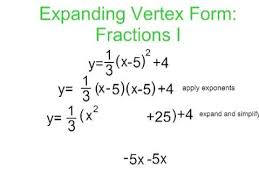vertex to standard form with fractions