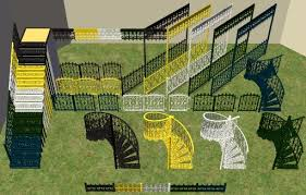 Mod The Sims Wrought Iron Porch Set W Recolorable Modular Stairs