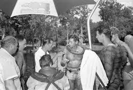 Florida Memory • Director Jack Arnold speaking to cameraman Scotty ...