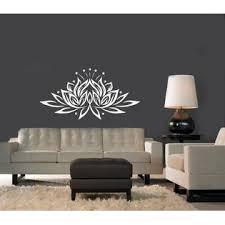 Incredible Decals Vinyl Wall Decal Bedroom Sticker Lotus Flower Yoga Studio Bohemian Decor Tk84