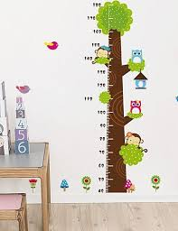 Yosoo Growth Chart Monkey Cartoon Tree Height Chart Wall Sticker Vinyl Decal Decor Sticker Removable Home Decor Baby B01dno9gok
