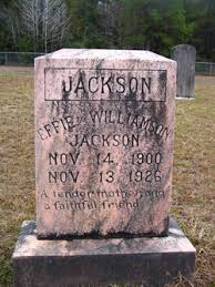 Effie Williamson Jackson (1900-1926) - Find A Grave Memorial