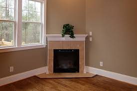 corner fireplace mantel and surround